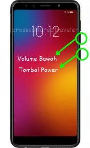 Menggunakan Tombol Power Dan Volume Bawah