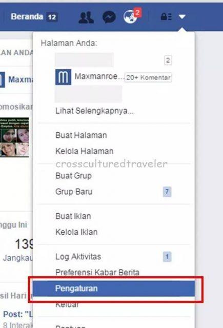 cara menonaktifkan facebook sementara