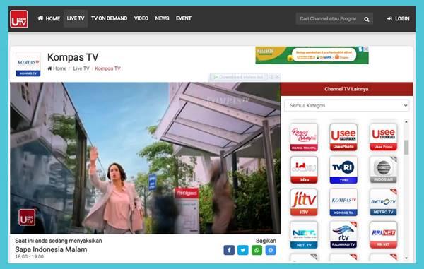 Cara Nonton TV di Laptop Menggunakan Koneksi Internet